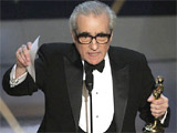 Director Martin Scorsese accepts the Oscar for best director for his work on 'The Departed' at the 79th Academy Awards Sunday, Feb. 25, 2007, in Los Angeles. (AP / Mark J. Terrill)