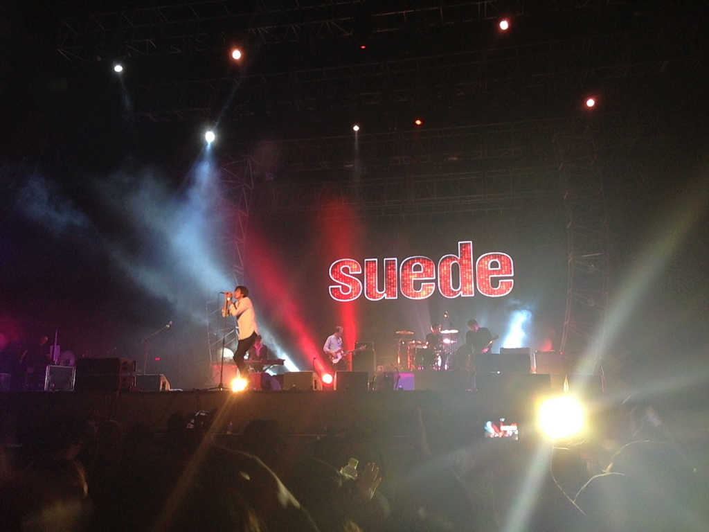 Suede Concert at Pentaport Rock Festival, South Korea on August 3, 2013